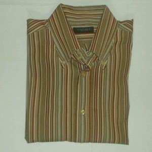 Canali men's button up shirt